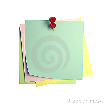 Free Postit Image 3d Stock Photography - 6874402