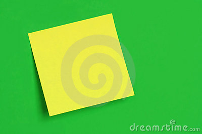 Postit Note on Green