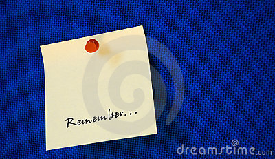 Postit with remember note