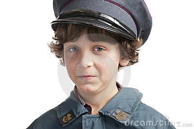 Postman with cap
