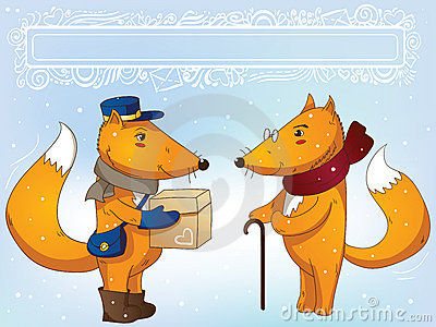 Postman fox and grandfather fox