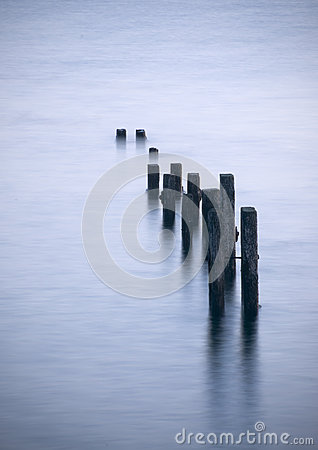 Free Posts In The Water Stock Image - 87467391