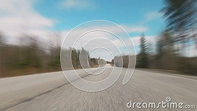 Postu zamazany jeżdżenie nad autostradą zdjęcie wideo