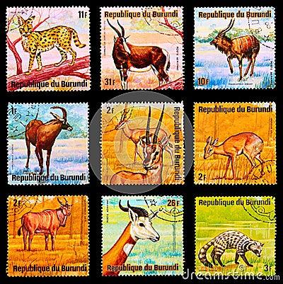 Postzegel Redactionele Stock Afbeelding