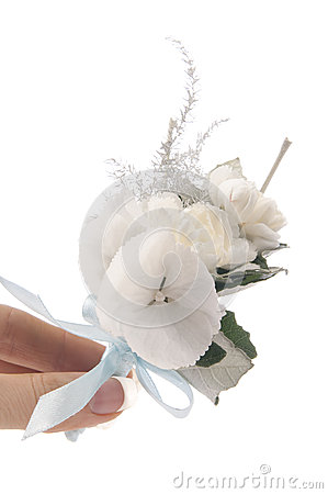 Posy bouquet in hand