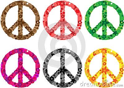 Potência de flor do sinal de paz