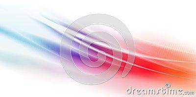 A potência rápida acena sobre o fundo colorido