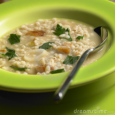 Pot barley soup
