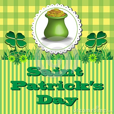 Pot d or de St Patrick
