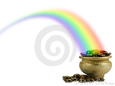 Pot of Gold in a rainbow