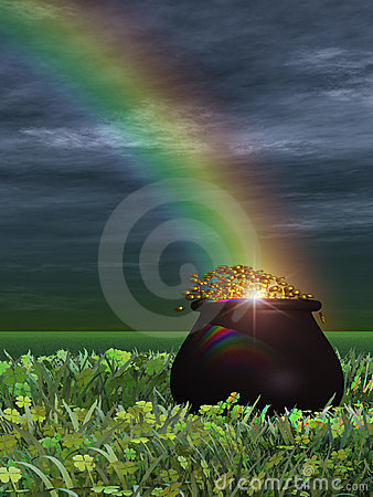 Free Pot Of Gold Royalty Free Stock Photography - 1939467