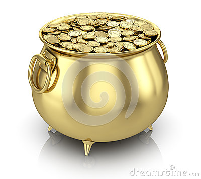 Free Pot Of Gold Coins Royalty Free Stock Image - 28773986