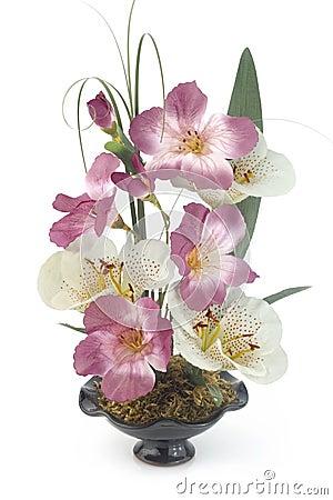 Free Pot Of Plastic Flowers Stock Photos - 4046853