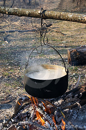 Free Pot On The Fire Stock Photos - 2416933