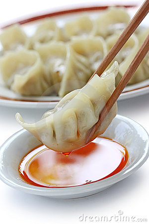 Pot stickers , gyoza ,  japanese food
