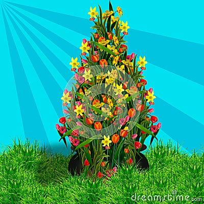 Pot Of Tulips
