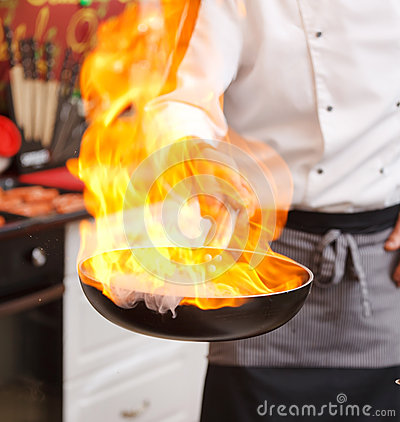 Free Pot With Fire Royalty Free Stock Image - 25446926