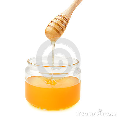 Free Pot With Honey And Drizzler Stock Photos - 44050813