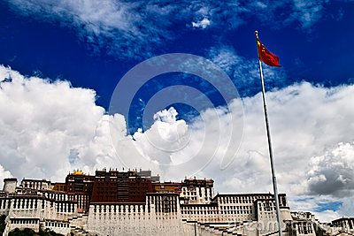 Potala Palace and Five-star Red Flag