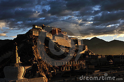 Potala Palace in the morning Editorial Photo