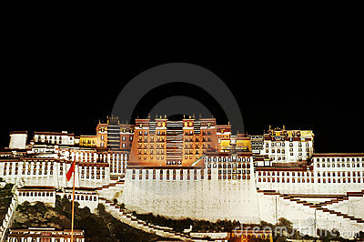 The Potala palace at night