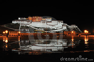 Potala Palace at Night Editorial Image