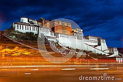 Potala Palace at night