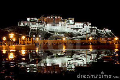 Potala Palace night view