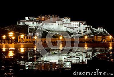 Potala Palace night view