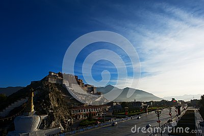 The Potala Palace under sunlight