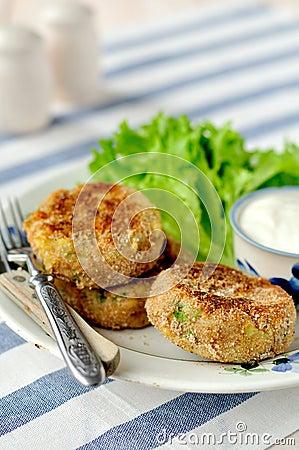 Free Potato And Tuna Cakes Royalty Free Stock Photo - 30314835
