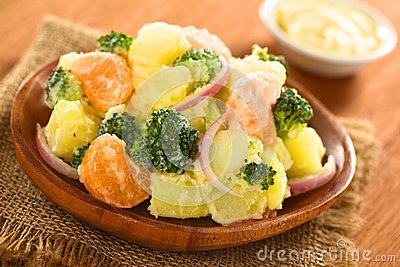 Potato Broccoli Mandarin Salad