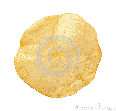 Free Potato Chip Isolated Royalty Free Stock Photo - 46016795