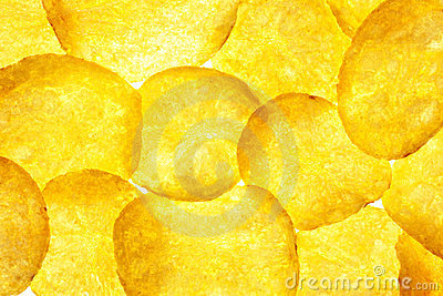 Potato Chips Background / Crisps / Macro