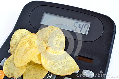 Potato chips and calories