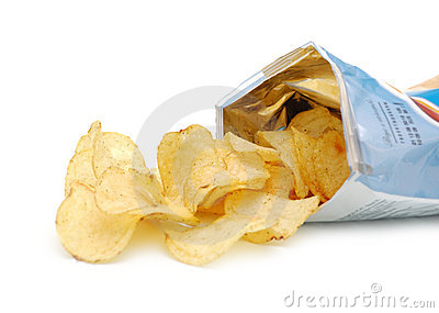 Potato chips in pack