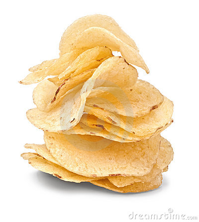 Potato chips pile