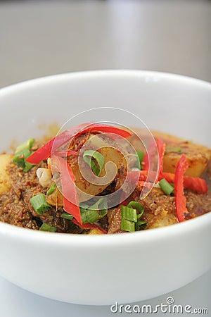 Potato curry asia food