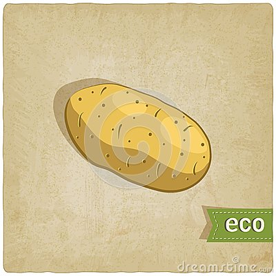Potato eco background