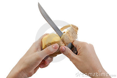 Potato knife peeling