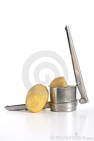 Potato masher isolated