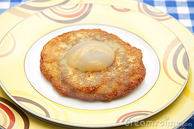 Potato pancake brown baked