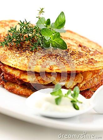 Free Potato Pancakes Stock Photography - 19813922