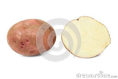 Potato and potato s half