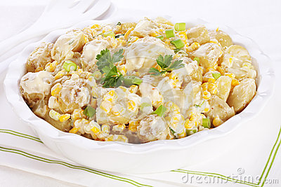 Potato Salad with Corn