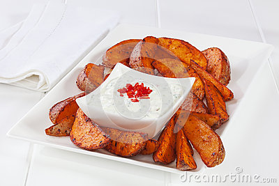 Potato Wedges and Dip