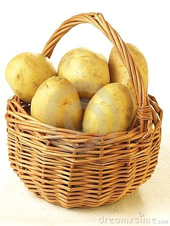 Potatoes in basket,
