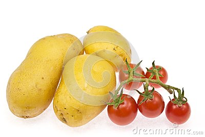 Potatoes and cherry tomatoes