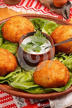 Potatoes with cream