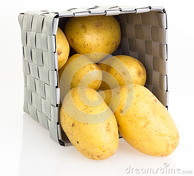 Free Potatoes In Basket Stock Image - 26447331